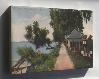 Canvas 24x36; A Summer Home, Buckeye Lake, O. 12660103565