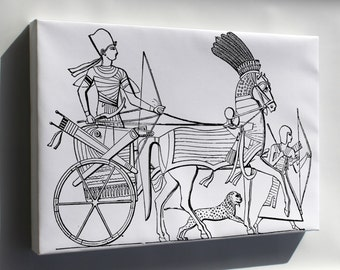 Canvas 24x36; Egyptian Chariot
