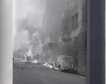 Canvas 24x36; Helsinki Bombardment 1939 Maitokeskus