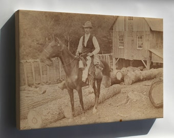 Canvas 24x36; Henry Ossawa Tanner Riding A Horse