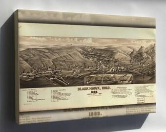Canvas 24x36; Map Of Black Hawk, Colorado 1882