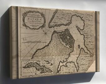 Canvas 16x24; Map Of Havana, Cuba 1762