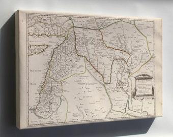 Canvas 16x24; Map Of Israel Mesopotamia Babylon 1651
