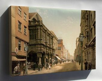 Canvas 16x24; High Street, Exeter, England, Ca. 1895