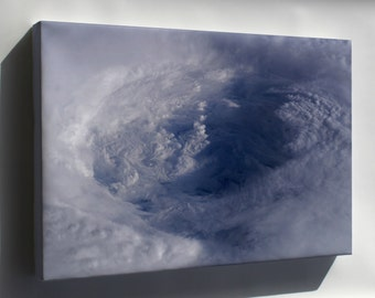 Canvas 16x24; Hurricane Isabel Eye From Iss