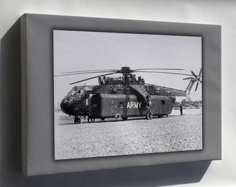 Canvas 16x24; U.S. Army Sikorsky Ych-54A Ch-54 Tarhe Helicopter Vietnam War 1966