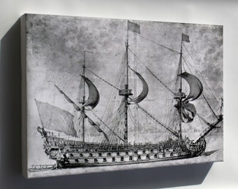 Canvas 16x24; French Navy Ship Of The Line, First Rate