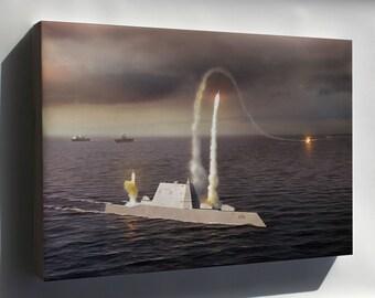 Canvas 16x24; Zumwalt Class Destroyer (Ddg-1000)