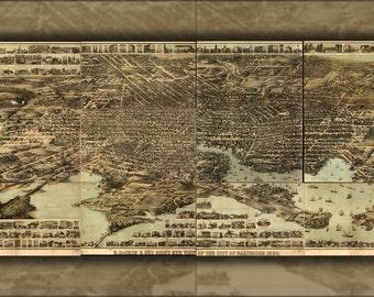 16x24 Poster; Birdseye Map Of Baltimore Maryland 1869