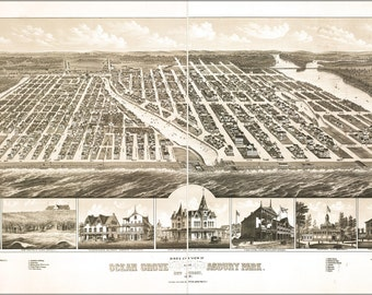 16x24 Poster; Map Of Ocean Grove Asbury Park New Jersey 1881