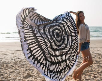 Beach Towel Round Towel Tassels Roundie Beach Blanket Round Yoga Mat Beachsheet Large Beach Blanket