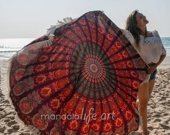 Large Roundie Beach Towel Round Yoga Mat Circle Beach Towel Beachsheet Large Beach Blanket