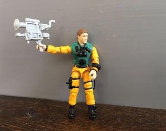 1989 Scoop GI Joe Action Figure / Camera Man News Reporter / Vintage Toy