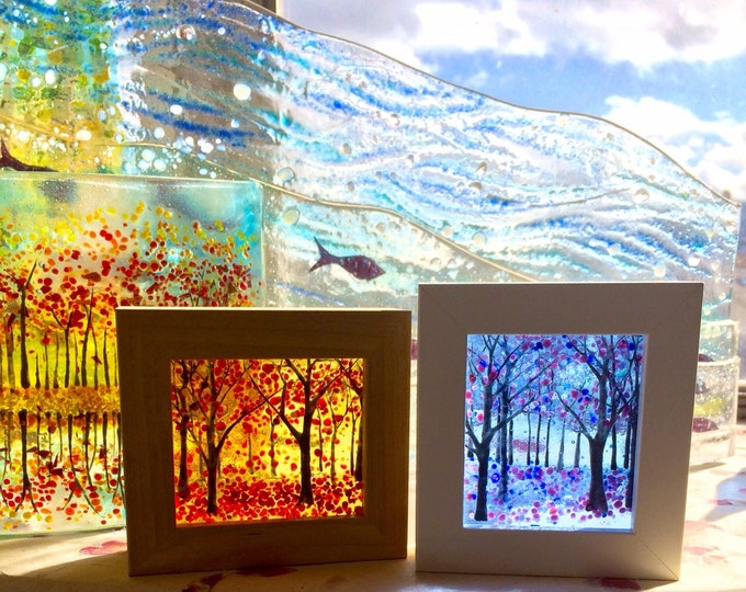 Tiny Fused Glass Art