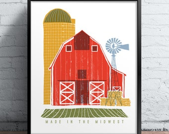Made In The Midwest Printed Poster