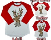 Cheetah Print Christmas Moose Raglan - Tees2urdoor