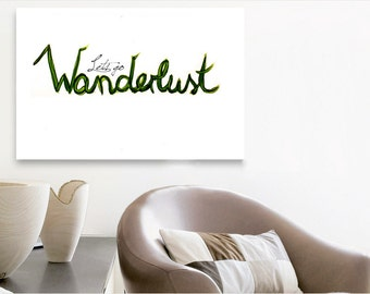 Wanderlust - acrylic glass picture