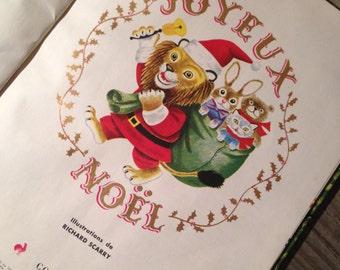 Pop Up Book 'Joyeux Noël' illustrations by Richard Scarry, 1950 Printed in France 'un grand livre d'or' Vintage Children's Christmas