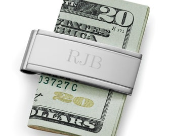 Stainless Steel Money Clip (g149-1103) - Free Personalization