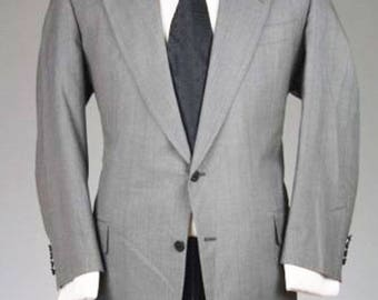 ON SALE Vintage Hickey Freeman Gray Pinstripe Wool Blazer/Jacket 44 S