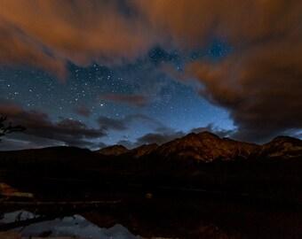 Night Photography | Print | Wall Art | Photograph | Star Gazing | Photography | 'Night Sky Over  Pyramid Mountain'