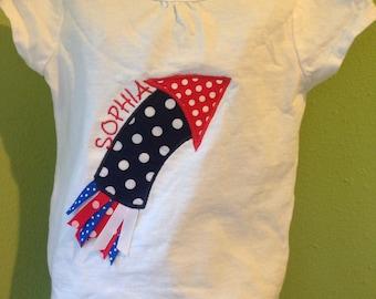 Firework appliqued shirt