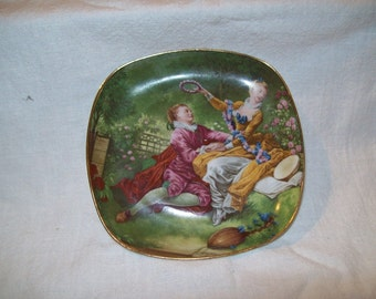 Limoges French Scene Tray