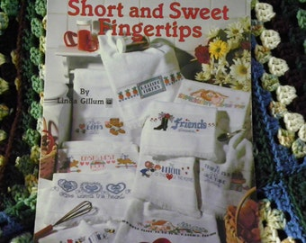 Cross Stitch Pattern Leaflet - Shorrt And Sweet Fingertips - 10 Designs For Towels