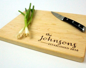 Personalized cutting board-1,Engraved cutting board,Personalized wedding gift,gift for couples, housewarming gift, engagement gift