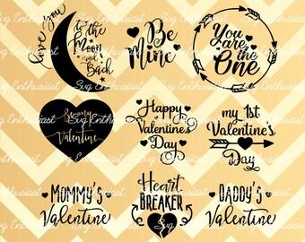 Valentine's day Bundle SVG, Be my valentine Svg, 1st Valentine Svg, Be mine SVG, Baby Svg, Heart Breaker svg, You are the one Svg, Clip Art