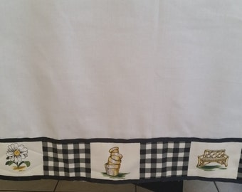 Farmhouse curtains, Kitchen curtains,  Country curtains, White curtains,Cafe curtains, window curtains, Panel Curtains