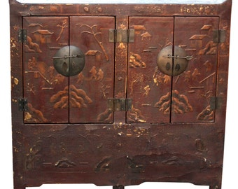 Perfect 40% Off   Antique Chinosierie Buffet Cabinet, Asian Cabinet,Antique Cabinet,  Chinese