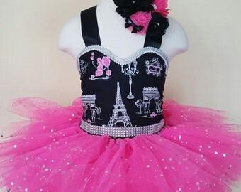 Paris Birthday tutu dress
