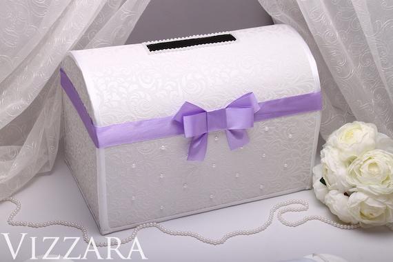 Purple Wedding Card box Card holder Wedding Money Box For
