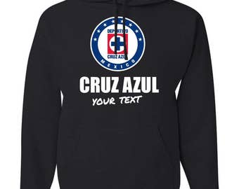 Cruz Azul La Maquina Mexico Hooded Sweatshirt Hoodie Hoody Sudadera With Custom Text(optional)