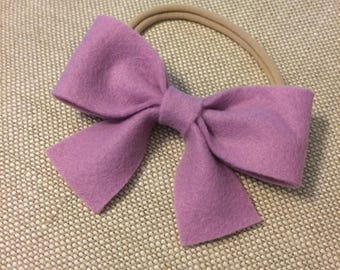 Purple Lilac Felt Bow