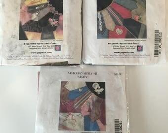 3 Crazy Quilt Victorian Quilt Block Kits