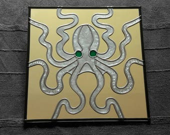 "Hand made 'Octopus' Mirror 12""x12"""