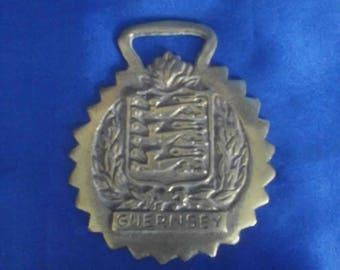 Horsebrass Guernsey and Crest Horse Brass