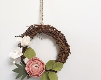 Spring blossom mini wreath