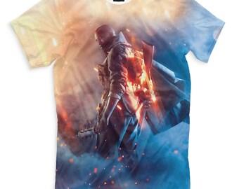 T-shirt fullprint Battlefield 1