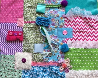 COLORFUL SENSORY FOCUS | Alzheimer's Awareness | Quilts for Alzheimer's | Dementia Blanket | by Restless Remedy