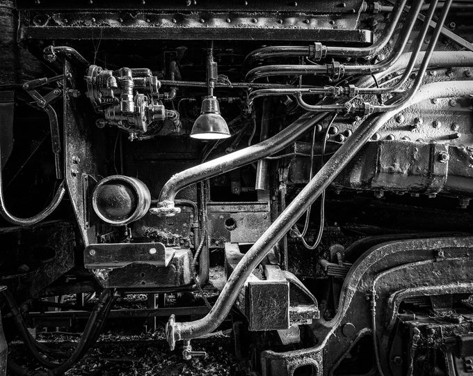 TRAIN 1 (MR) | fine art photography interior wall decor affordable options frameless metal unframed print multiple sizes –Rick Graves