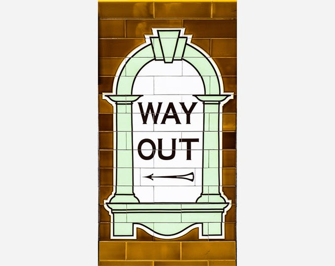 WAY OUT | modern fine art photography blank note cards custom books interior wall decor affordable pictures –Rick Graves Spring Green