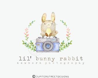 Logo Design-Bunny Logo-Small Business Logo-Photography Logo