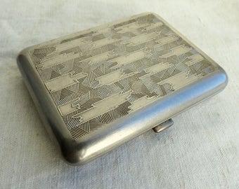 Vintage metal cigarette case / cigarette case / Card Holder / card case / Metal Wallet