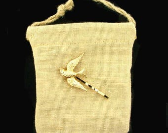 Gold Bird Bobby Pin   Nature Hair Jewelry Golden Bird Hairpin   Gold Woodland Hair Pins   Flying Bird Hairpin   Gold Swallow Bobby Pin