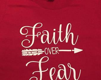 faith over fear shirt, christian shirt