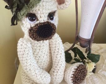 Teddy Bear/Stuffed Animal/Handmade/Crochet/Medium Size/Amigurumi / Handmade Teddy Bear / Artist