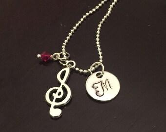 Treble Clef Necklace-Band Jewelry-Chorus Jewelry-Music Jewelry